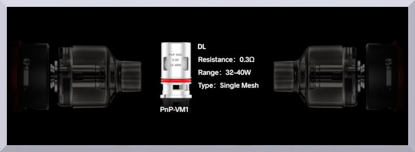 Banner žhaviča Voopoo PnP-VM1 s odporom 0,3 ohm