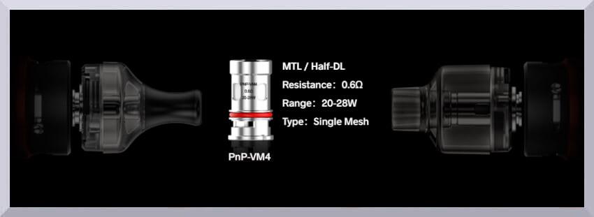 Univerzálny žhavič Voopoo PnP-VM4 s odporom 0,6 ohm