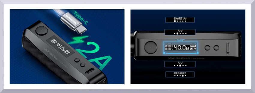 bateria vaporesso gtx one funkcie - banner