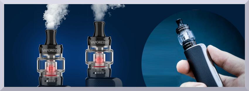 elektronická cigareta Vaporesso GTX One v ruke