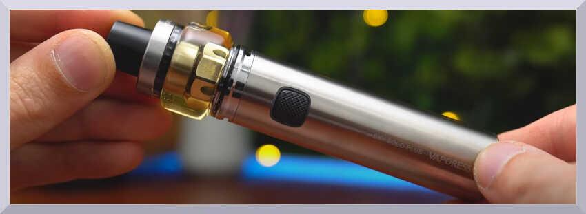 náhľad e-cigarety Vaporesso Sky Solo Plus v ruke - banner