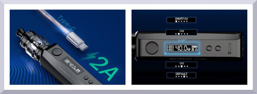 batéria e-cigarety vaporesso GTX One banner