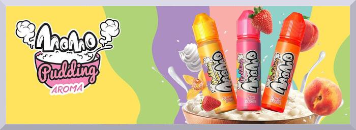 longfill príchute MoMo, séria Pudding - web banner