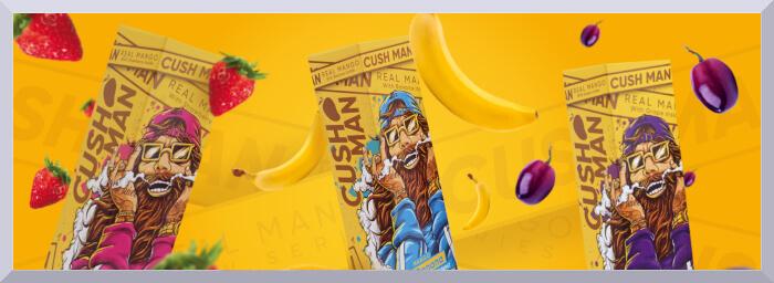 Longfill príchute Nasty Juice, séria CushMan - web banner