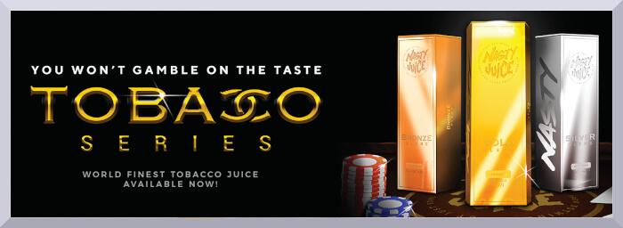 Longfill príchute Nasty Juice, séria Tobacco - web banner