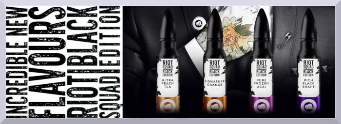 Longfill príchute Riot Squad, séria Black Edition - web banner