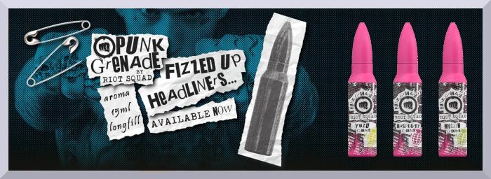 Longfill príchute Riot Squad, séria Punk Grenade - web banner