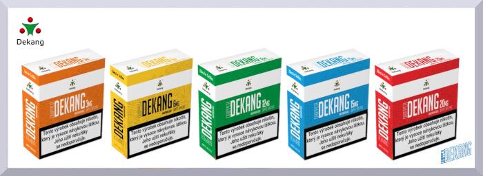 Nikotínové bázy Dekang Dripper - web banner