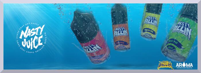 Koncentrované príchute Nasty Juice, séria Ballin
