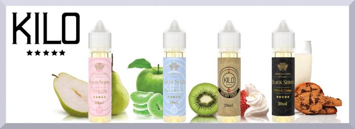 Longfill príchute Kilo E-liquids web banner