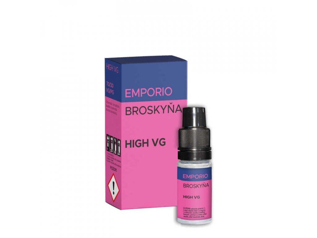e liquid emporio broskyna high vg 10 ml 0 mg