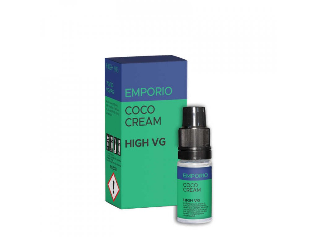 e liquid emporio coco cream high vg 10 ml 0 mg