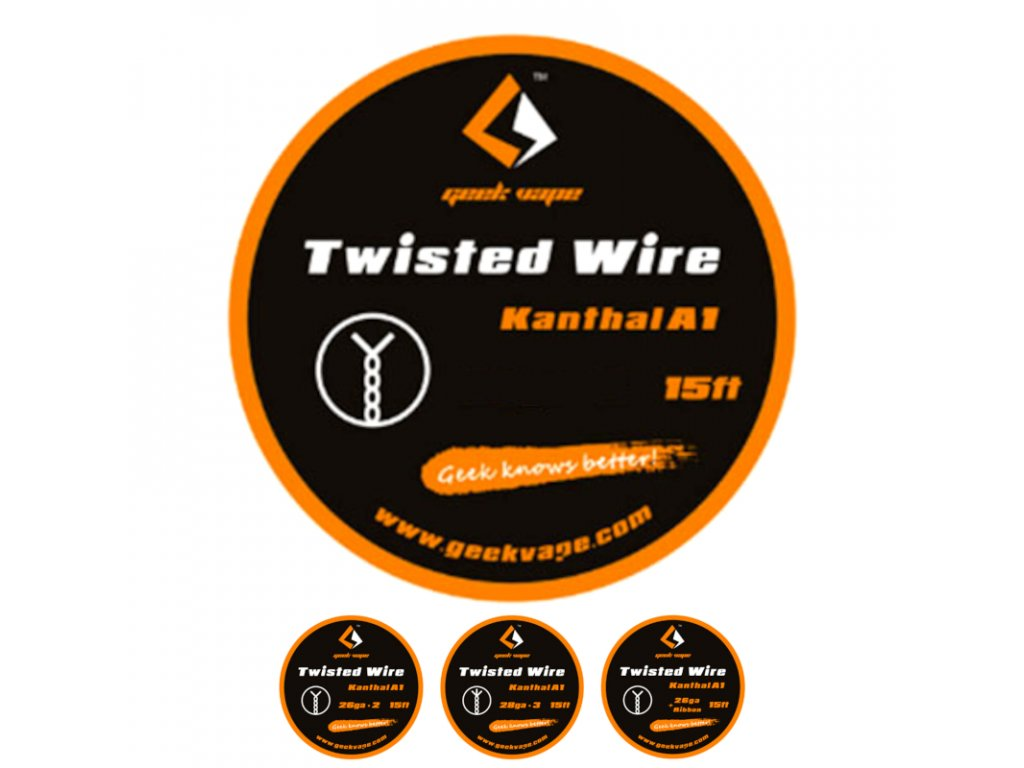 geekvape odporovy drot twisted kanthal a1 4,5 m