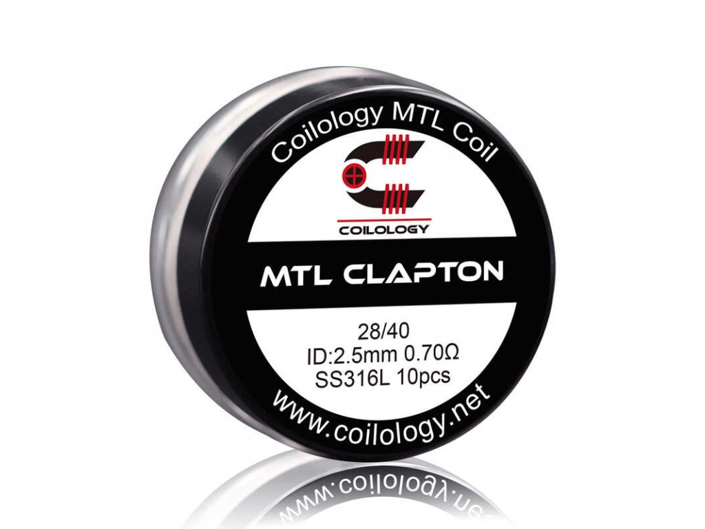 coilology mtl clapton ss316 spiralky 10 ks