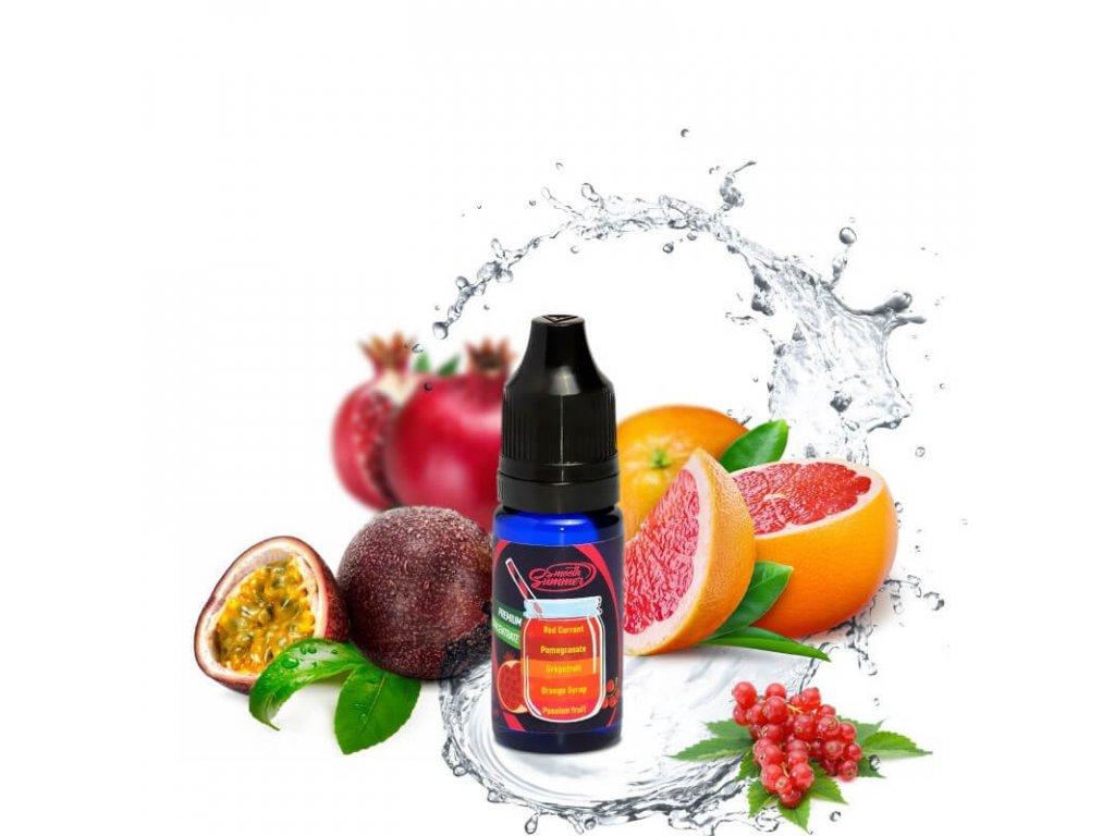 passion fruit orange syrup grapefruit pomegrante red currant pogpr