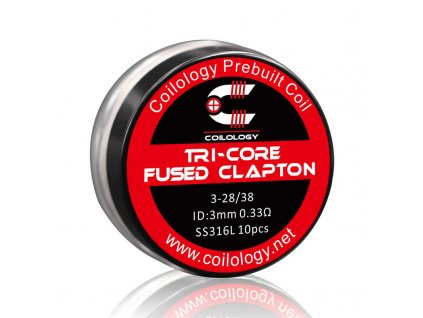 coilology tri core fused clapton ss316 spiralky 10 ks