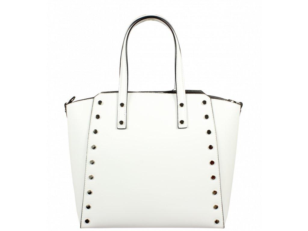 2bd7625444 ... Italská kožená kabelka Pierre Cardin 1531 Ruga Bianco ...