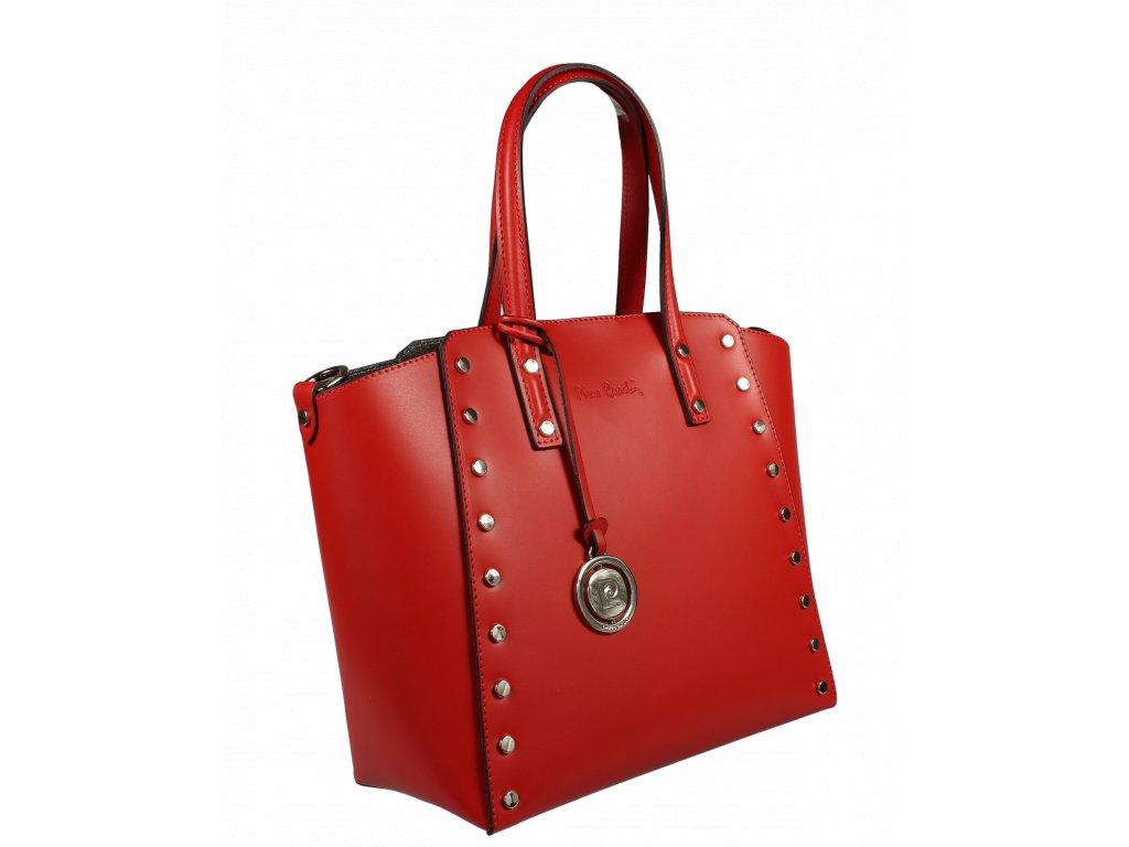 a0e710274f ... Italská kožená kabelka Pierre Cardin 1531 Ruga Rosso ...