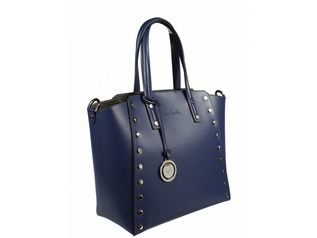 4d49deef9f ... Italská kožená kabelka Pierre Cardin 1531 Ruga Blu ...
