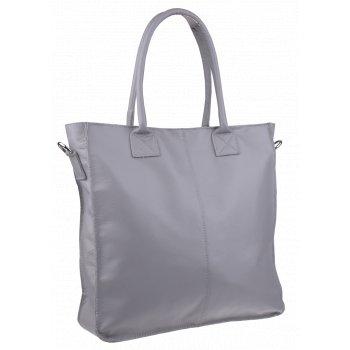 Italská kožená kabelka Fausta Grigia