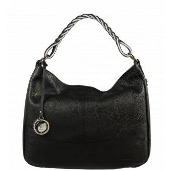 Italská kožená kabelka Pierre Cardin 5320 Dollaro Nero