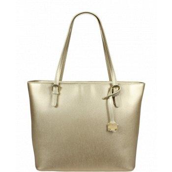 Italská kožená kabelka Pierre Cardin 1398 Lurex Oro