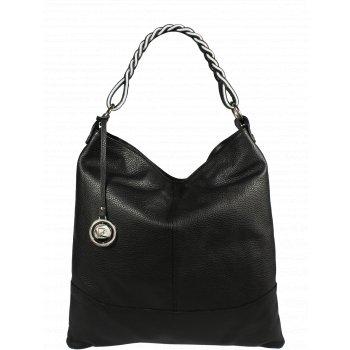 Italská kožená kabelka Pierre Cardin 5318 Dollaro Nero