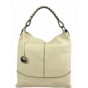 Italská kožená kabelka Pierre Cardin 5318 Dollaro Beige