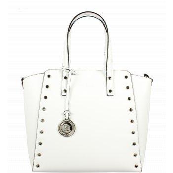 Italská kožená kabelka Pierre Cardin 1531 Ruga Bianco