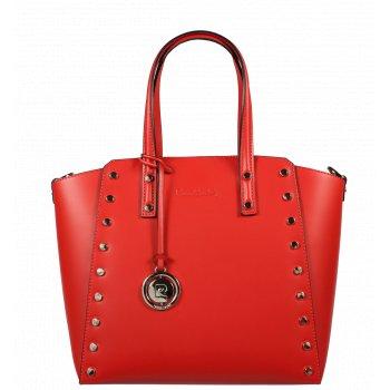 Italská kožená kabelka Pierre Cardin 1531 Ruga Rosso