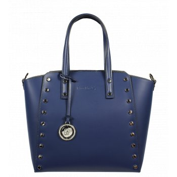 Italská kožená kabelka Pierre Cardin 1531 Ruga Blu