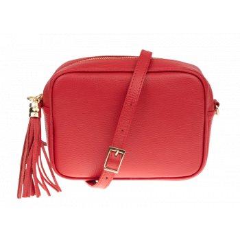 Italská kožená kabelka Bala Rossa Corallo