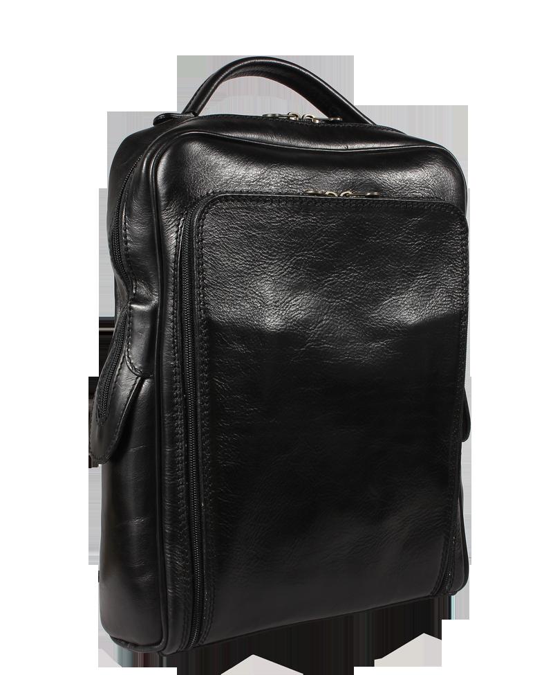 3d27dd97862 Černý kožený batoh do města Velio Nera