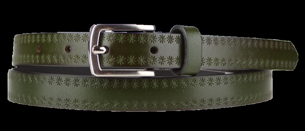 NovaKabelka.cz Cintura Stelle (2 cm) Barva pásku: zelená