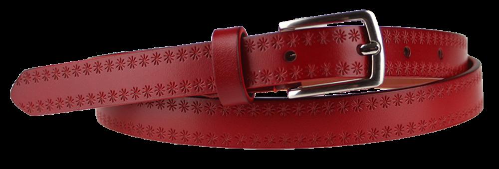 NovaKabelka.cz Cintura Stelle (2 cm) Barva pásku: červená