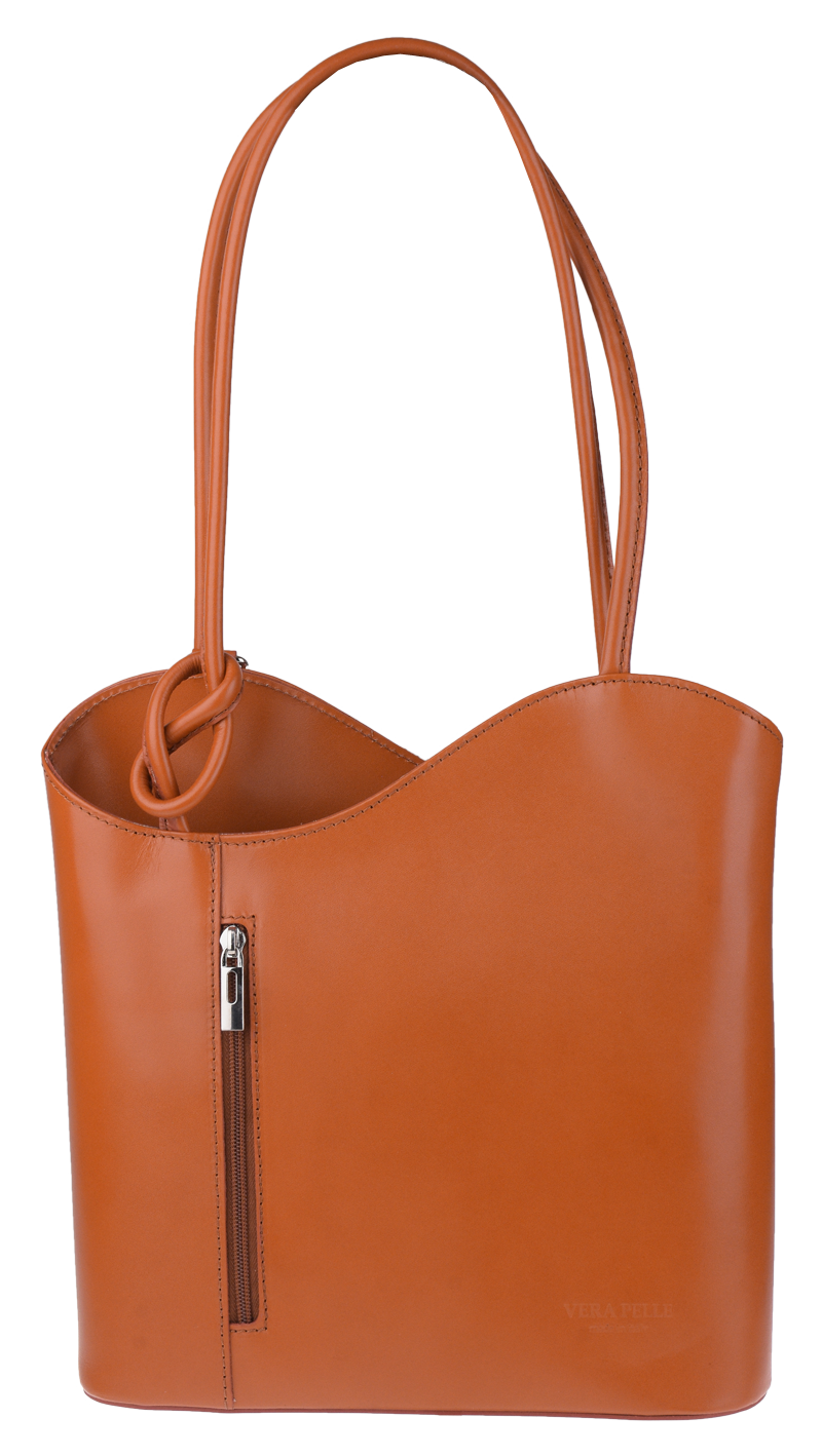 Kožená kabelka Clarise Camel