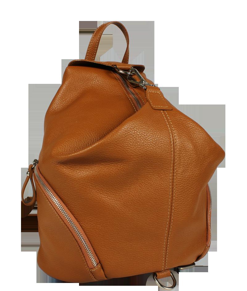 hnědý kožený batůžek Moira Camel