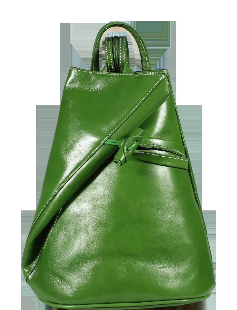 zelený kožený batůžek Nilde Verde
