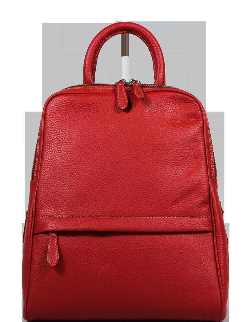 Červený dámský batoh Amos Nuovo Rossa Červený dámský batoh Amos Nuovo Rossa