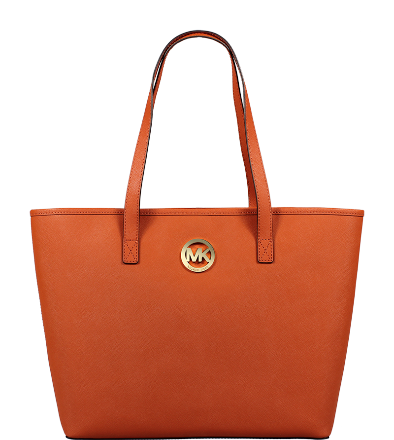 kožená kabelka Michael Kors MD Travel Tote Burnt Orange kožená kabelka Michael Kors MD Travel Tote Burnt Orange