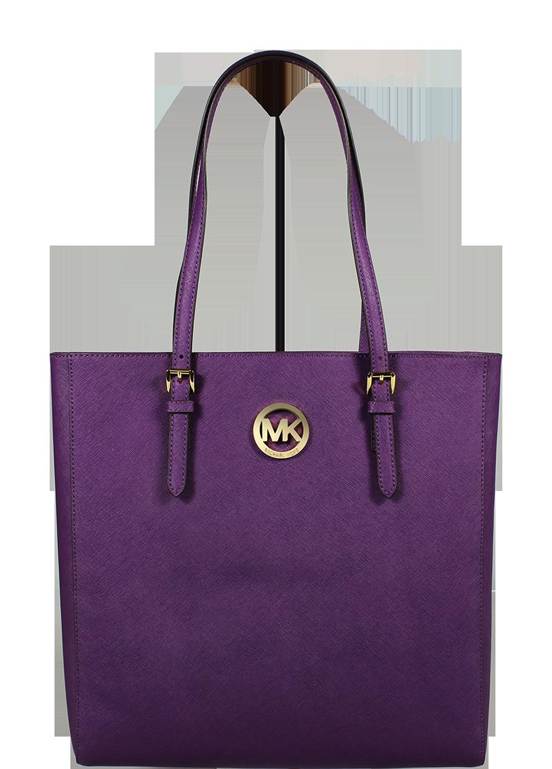 kožená kabelka přes rameno Michael Kors NS Tote Violet kožená kabelka přes rameno Michael Kors NS Tote Violet