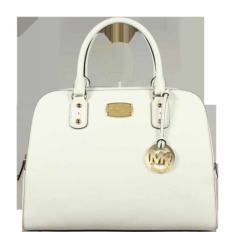 bílá kabelka do ruky Michael Kors LG Satchel White bílá kabelka do ruky Michael Kors LG Satchel White
