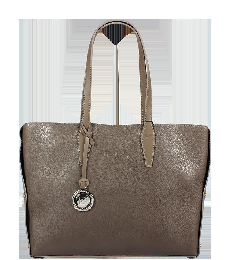 Hnědá kožená kabelka Pierre Cardin 1465 Prince Taupe 9ed098eab66