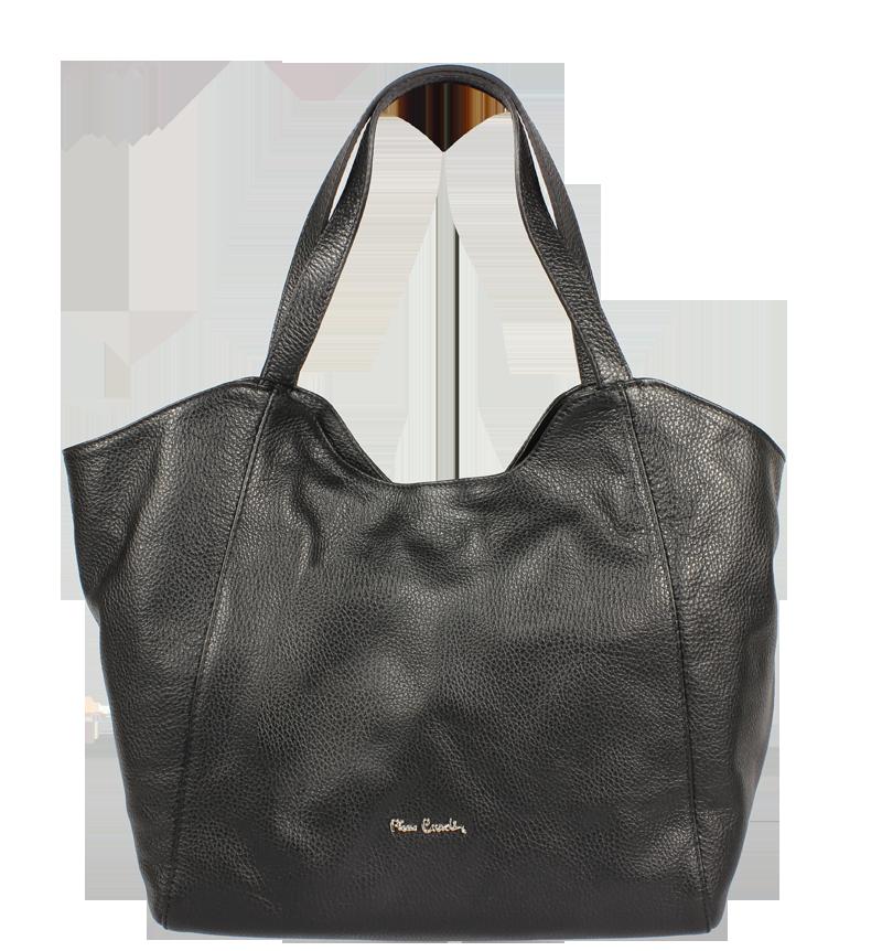 Černá kožená kabelka Pierre Cardin 1495 Dollaro Nero Černá kožená kabelka Pierre Cardin 1495 Dollaro Nero