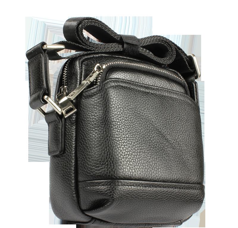 Pánská kožená taška přes rameno Gigi Piccola Nera Pánská kožená taška přes rameno Gigi Piccola Nera