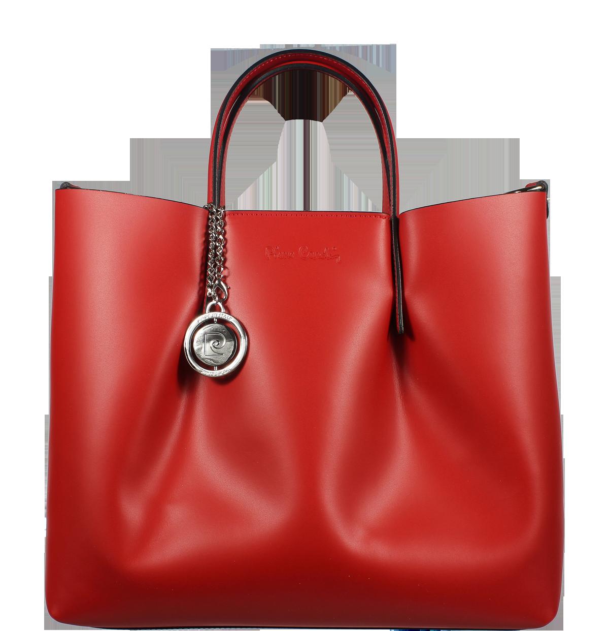 Červená kabelka Pierre Cardin 1518 Ruga Rosso Červená kabelka Pierre Cardin 1518 Ruga Rosso