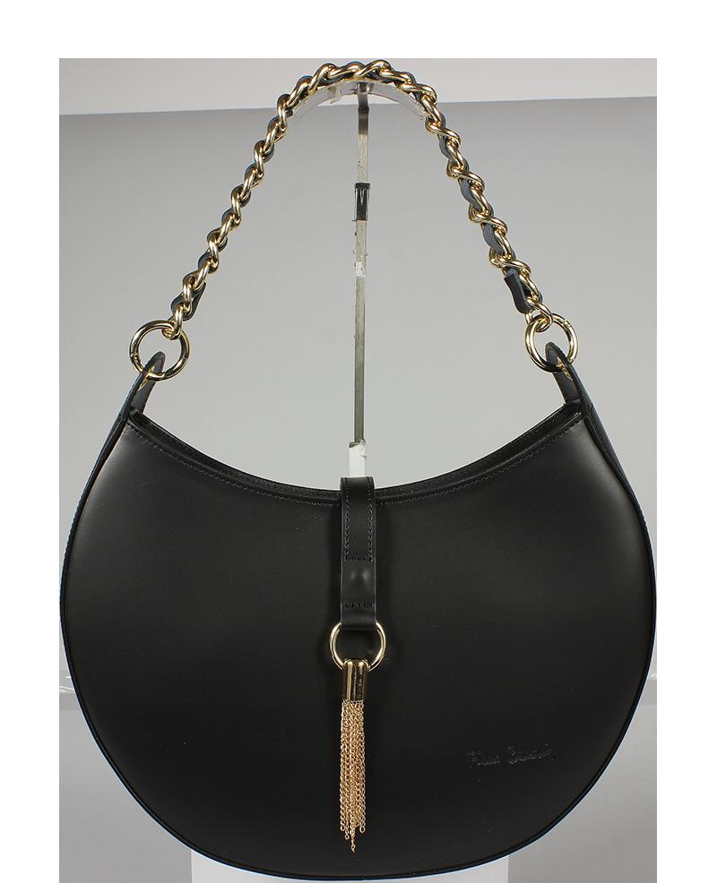 28f8b457ce Italská kožená kabelka Pierre Cardin 1547 Ruga Nero Italská kožená kabelka  Pierre Cardin 1547 Ruga Nero