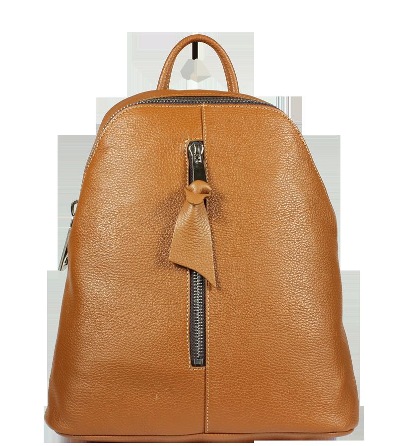Italský kožený batůžek Claudia Camel