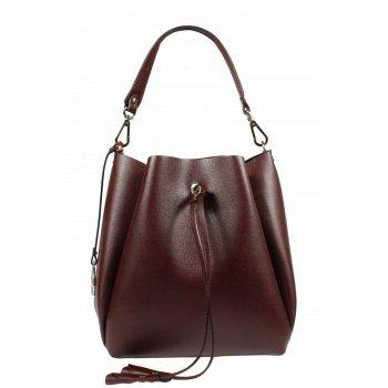 Krásna kožená kabelka Pierre Cardin 5314 Frenzy Chianti