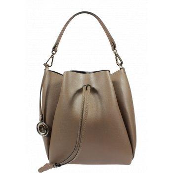 Krásna kožená kabelka vo svetlo hnedej Pierre Cardin 5314 Frenzy Terra